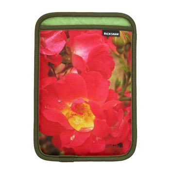 Roses and Raindrops iPad Mini Sleeve Vertical