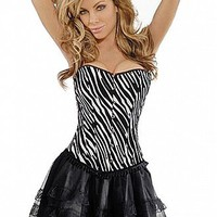 Strapless Zebra Stripe Corset at dressilyme.com