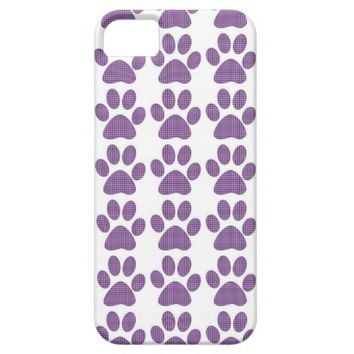 Galaxy 5 Purple Pawprint Case