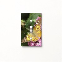 Acrylic Paint Effect Painted Lady Butterfly Light Switch Cover