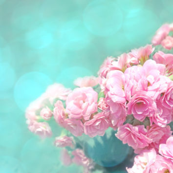 Pink rose photo dreamy bokeh photo Art Print by Mercedes | Society6