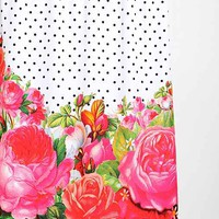 Bold Florals & Dots Shower Curtain