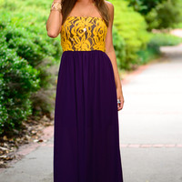 Fair Catch Maxi, Purple/Gold