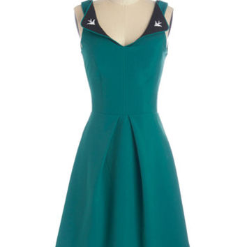 ModCloth Vintage Inspired Sleeveless A-line A Lovely Pair Dress