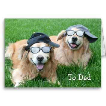 Two Cool Golden Retrievers Father's Day