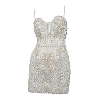 Versace Crystal Encrusted Couture Cocktail Dress