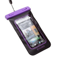 """Aduro Sport Waterproof Case/Bag for Smartphones with Audio Out """"Lifetime Warranty"""" for Apple iPhone 4 / 4S / 5 / 5S, Samsung Galaxy S3 / S4 / S5 / Note 3, iPod Touch, HTC ONE X, LG NEXUS (Retail Packaging) (Purple)"""