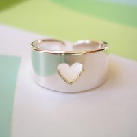 Sterling Silver Toe Ring Pierced Out Heart by SOLOJEWELLERY