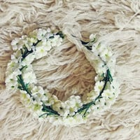 Flower Crown in White