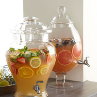 Ginger-Jar and Pear-Shaped Crystal Beverage Dispensers - Neiman Marcus