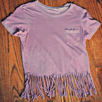 Fringe and Studded Tee by kaitlinmuro on Etsy