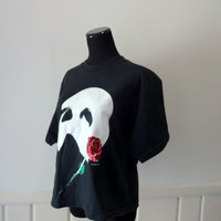 Vintage Phantom of the Opera Crop Top T-Shirt 1980