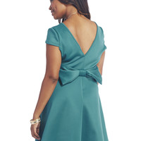 Large Bow Back Skater Dress | Wet Seal
