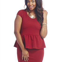 Textured Peplum Dress | Wet Seal