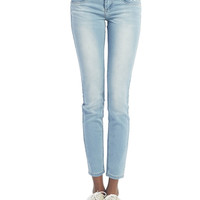 Light Wash Skinny Jeans | Wet Seal