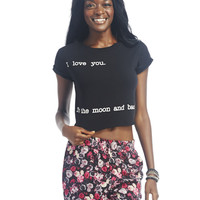 """To the Moon"" Crop Tee 