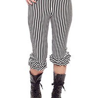 B&W Striped Bloomers Leggings