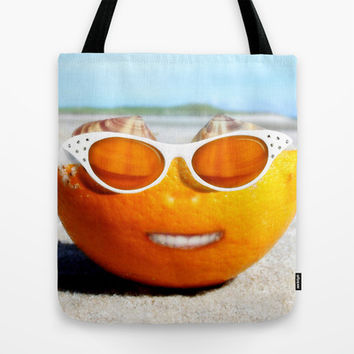 Beached Orange Tote Bag by Gravityx9