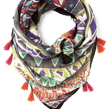 ModCloth Boho Congruent and Colorful Scarf
