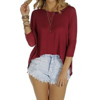 Burgundy Dolman Basic