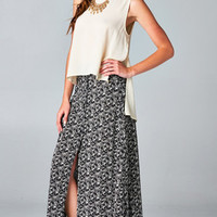 FULL BLOOM BUTTON UP MAXI SKIRT