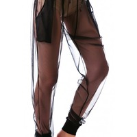 Widow Nocturne Mesh Dropwaist Pants Black