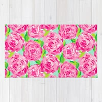 Roses Area & Throw Rug by uramarinka