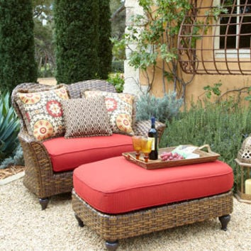 Outdoor Cuddle Chair & Ottoman - Neiman Marcus
