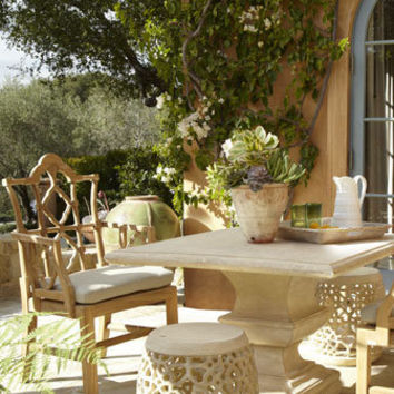 Outdoor Table, Armchair, & Garden Seat - Neiman Marcus
