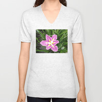 Standing Out V-neck T-shirt by Hoshizorawomiageteiru | Society6