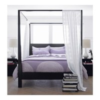 Crate & Barrel Pavillion Black Canopy Bed