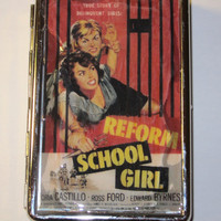 Retro BMovie Poster Metal Wallet Vintage by Retrospectshop on Etsy