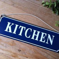 Blue Kitchen Sign