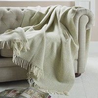 Herringbone Pattern Wool Throw