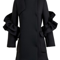 SIMONE ROCHA | Neoprene Frill Coat | Browns fashion & designer clothes & clothing