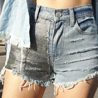 Chainmail Cutoff Shorts
