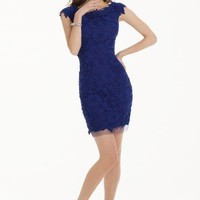 Short Lace Dress with Cap Sleeves