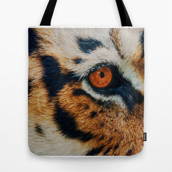 TIGER PURRSPECTIVE Tote Bag by Catspaws | Society6