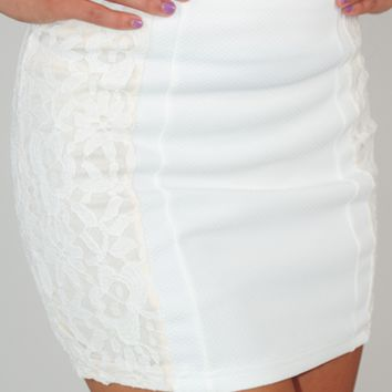 RESTOCK: Night After Night Skirt: Ivory