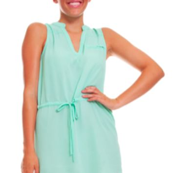 Mint Tied Day Dress