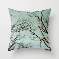 Branches Throw Pillow by Halfmoon Industries