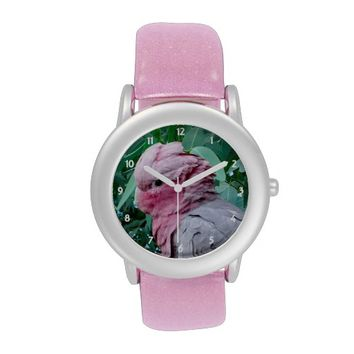 Galah Cockatoo Roseate Glitter Watch