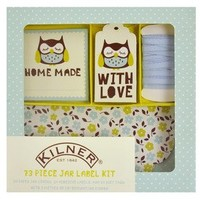 73-Piece Owl Label Set in Gift Box