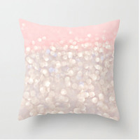 Pillow Cover, Pastel Pink Gray White Bokeh, Soft and Dreamy, Photography, Nursery Decor Living Room Decor