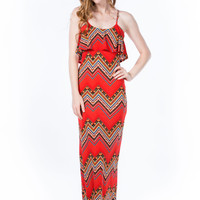 Zigzag Tribe Vibe Maxi Dress