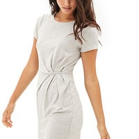 Drapey Heathered Sheath Dress