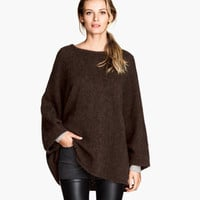 Wide-cut Wool-blend Sweater - from H&M