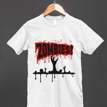 Zombies! Hands Out Of The Graves - Unisex T Shirt - other colors and styles are available