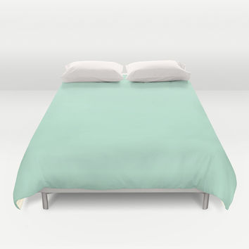 Mint Green Duvet Cover by BeautifulHomes | Society6