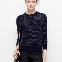 Brit Crewneck Cardigan-Dot